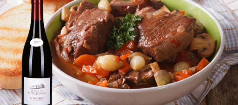 Le traditionnel Boeuf Bourguignon